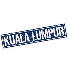 Kuala lumpur blue square stamp vector