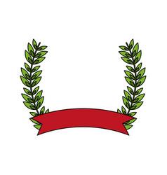 Laurel crown icon image vector
