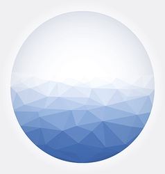 Low poly circle blue abstract vector