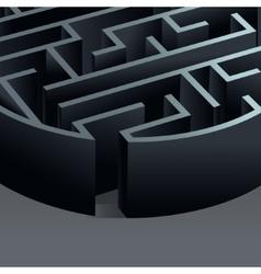 Maze 3d circle vector