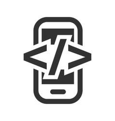 Mobile development html flat icon vector