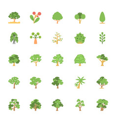 Nature and ecology flat colored icons 6 vector