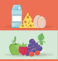 nutrition food fresh health image vector image