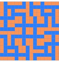 Orange blue crossword vector