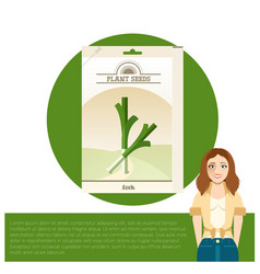 pack of leek seeds icon vector image