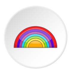 Rainbow lgbt icon cartoon style vector