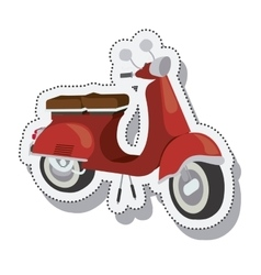 scooter sticker isolated icon design vector image