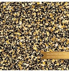 seamless golden heart spray texture vector image vector image