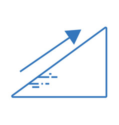 Silhouette financial triangle with arrow up to vector
