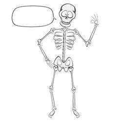 Skeleton Buddy vector image vector image