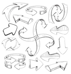 Sketch arrows set vector image vector image