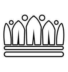 Snow crown icon outline line style vector