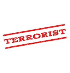 Terrorist watermark stamp vector