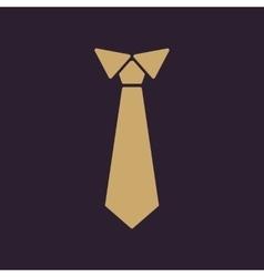 The tie icon Necktie and neckcloth symbol Flat vector image vector image