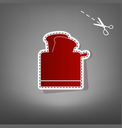 Toaster simple sign red icon with for vector