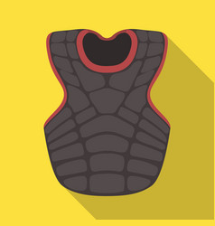 Vest baseball baseball single icon in flat style vector