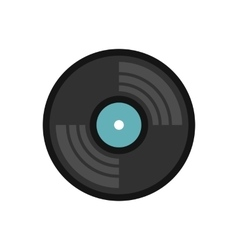 Vinyl record icon flat style vector image