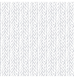 White pattern with stylized sweater fabric vector