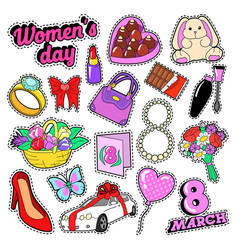 Womens day 8 march elements set vector