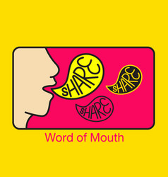 Word of mouth logo vector
