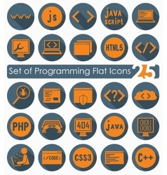 Set of programming icons vector