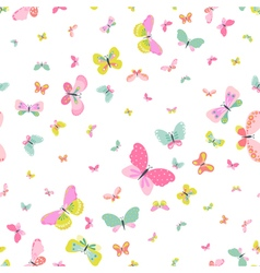 Colorful seamless background with butterflies vector