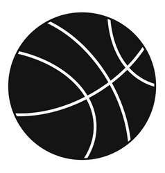Basketball ball icon simple style vector
