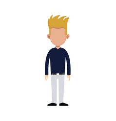Character man standing casual clothes image vector