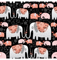 Texture of ornamental elephants vector