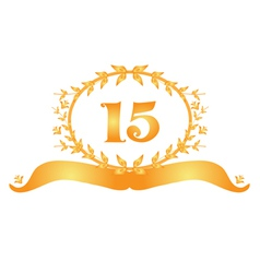 15th anniversary banner vector