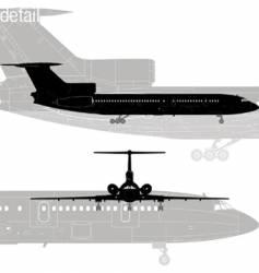 tu-154 jetliner vector image
