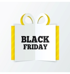 Black friday sale box cut the paper christmas vector