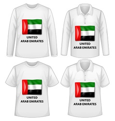 Arab emirates shirts vector