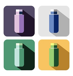 Set of colorful icons of flash drive vector