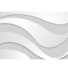 Light grey corporate paper waves background vector