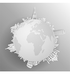 Travel the world monument vector