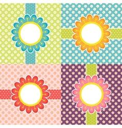 Floral frames vector