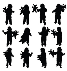 Child with toy vector