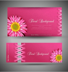 Flowers template design element vector