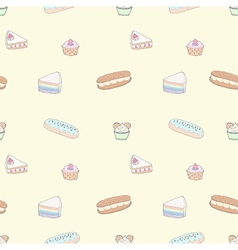 Seamless pattern of dessert vector
