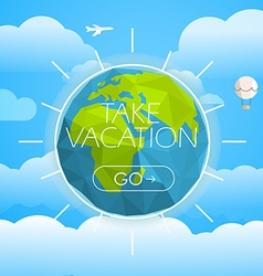 Vacation travelling concept travel take va vector
