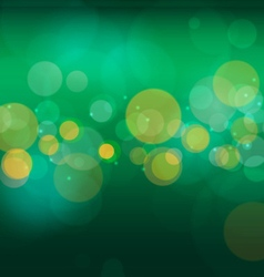 Abstract green nature bokeh background vector