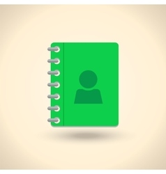 Address phone book notebook icon flat style vector