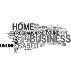 best home based business opportunities text word vector image vector image