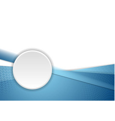 Blue corporate background with circle vector