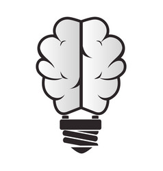 Brain storm with bulb vector