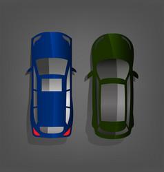 car top view vector image vector image