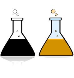 Chemistry lab beaker vector