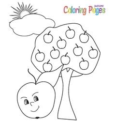 ColoringBookApple vector image
