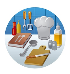 cooking concept icon vector image vector image